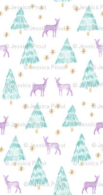 winter deer - lavender