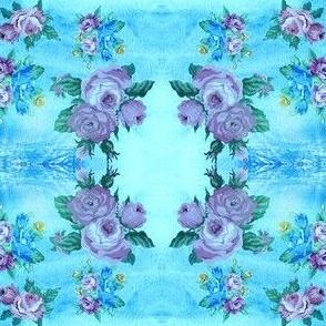 NR Fabrics Turquoise Roses