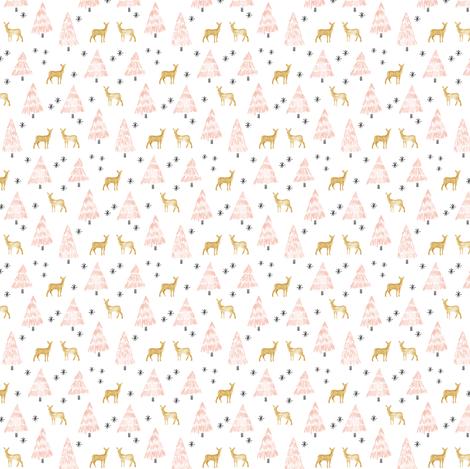 (micro print) holiday deer - blush fabric by littlearrowdesign on Spoonflower - custom fabric