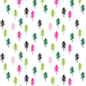trees w/ pink