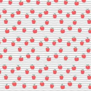 (micro print) apple picking - grey stripes