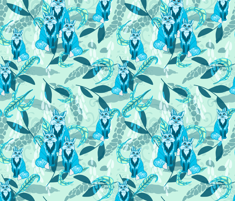 Fox Fun fabric by ravens_spirit_song on Spoonflower - custom fabric