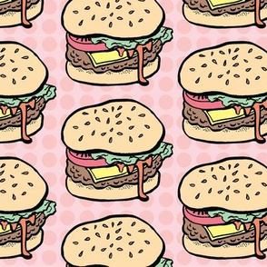 Burgers in Pink Dots