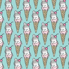 Vanilla Ice Crem Cones
