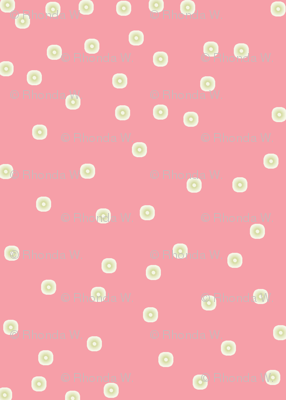 Silver Dots on Carnation Pink - Medium Scale