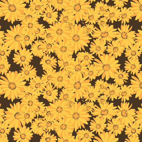 #SAGE Honeybeeday Calendula fabric by palusalu on Spoonflower - custom fabric
