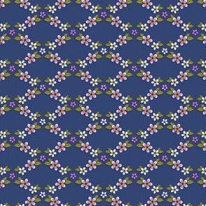 Floral Trellis - Blue