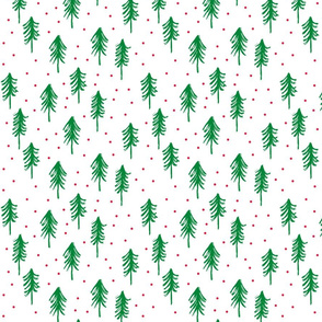 trees - green with red