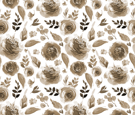 "21"" TOPANGA / SEPIA / WHITE fabric by shopcabin on Spoonflower - custom fabric"