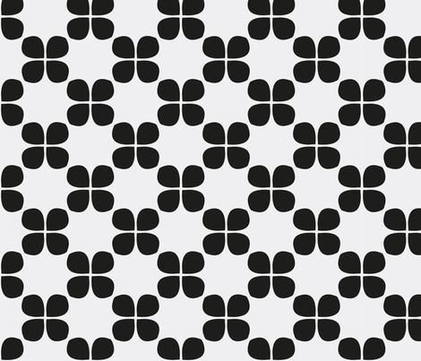 nordic flower leaf fabric by miriam_leitner on Spoonflower - custom fabric