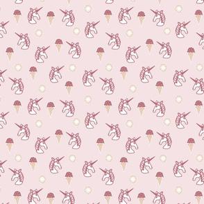 unicorns and ice cream