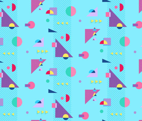 Geo Pop fabric by dearchickie on Spoonflower - custom fabric