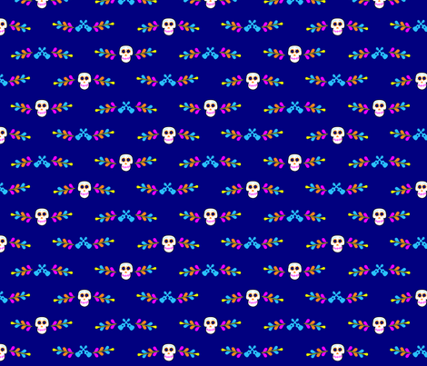 Sugar Skulls Border 002 fabric by lowa84 on Spoonflower - custom fabric