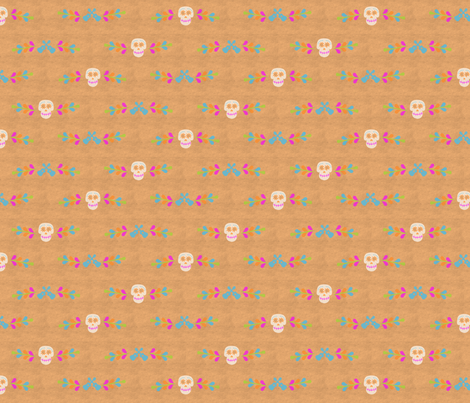 Sugar Skulls Border fabric by lowa84 on Spoonflower - custom fabric