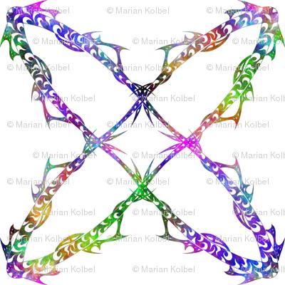 Rainbow Orbit on White