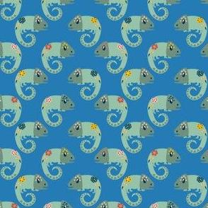 Chameleon - blue