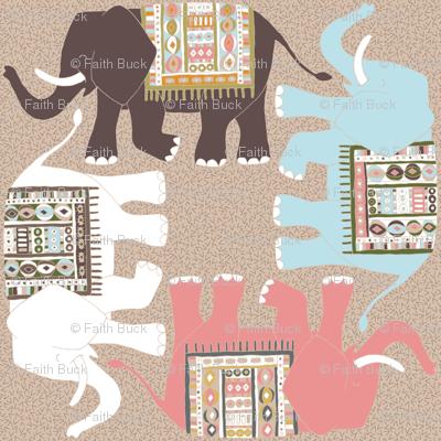 Retro Elephant (neutral)