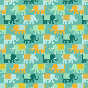 Elephant Check (circus turquoise)