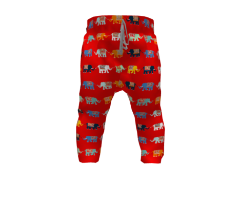 Elephant Rows (circus red)