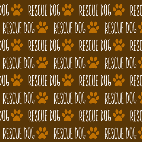 Rescue Dog Mocha fabric by brainsarepretty on Spoonflower - custom fabric