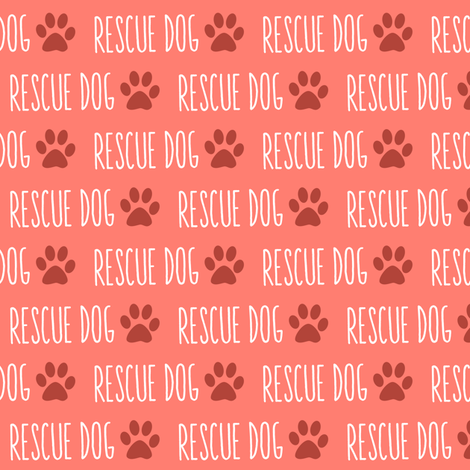 Rescue Dog Coral fabric by brainsarepretty on Spoonflower - custom fabric