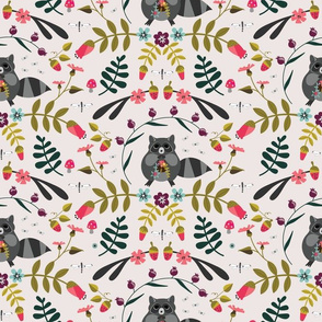 Raccoon Floral