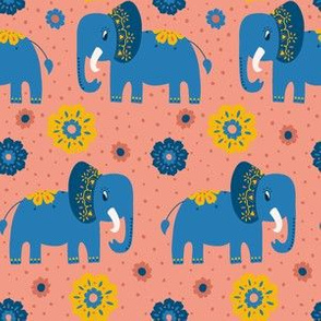 elephants - pinkish