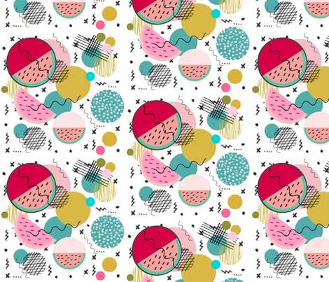 Memphis Style Baby! fabric by floramoon_designs on Spoonflower - custom fabric
