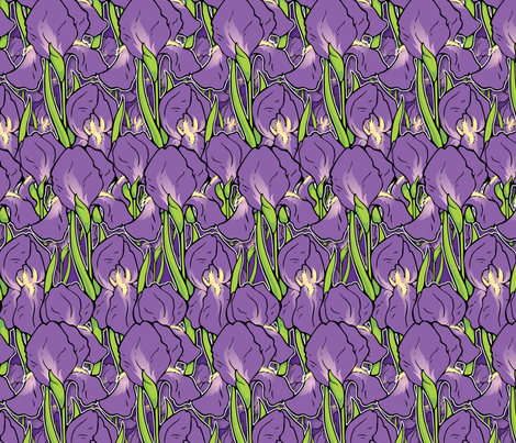 Irises fabric by hannafate on Spoonflower - custom fabric