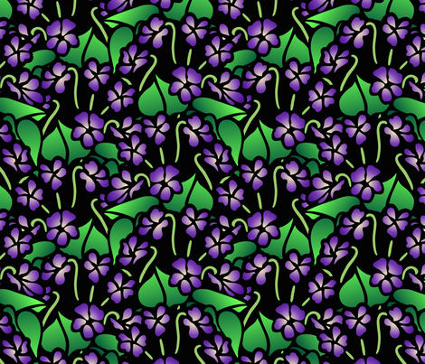 violets fabric by hannafate on Spoonflower - custom fabric