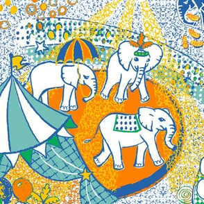 Acte de cirque d'éléphant
