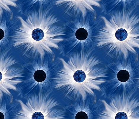 Total eclipse in denim fabric by hannafate on Spoonflower - custom fabric