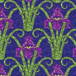 Art Nouveau Irises  -  Mosaic