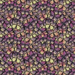 butterfly kaleidoscope - pink gray yellow Veronicas