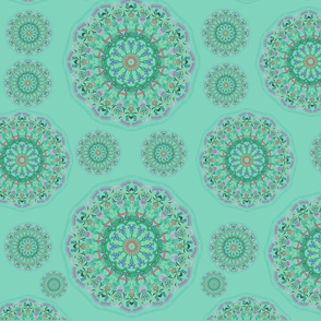 Restful Mandala  Pale Green