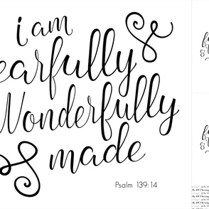 Fearfully and Wonderfully Made - blanket and 2 lovie layout