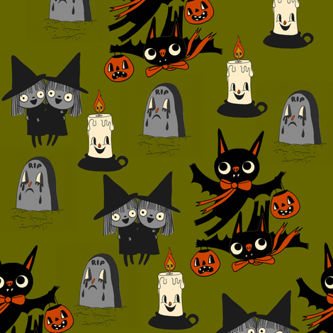 In The Graveyard fabric by heidikenney on Spoonflower - custom fabric