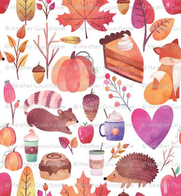 "8"" Autumn Watercolor"