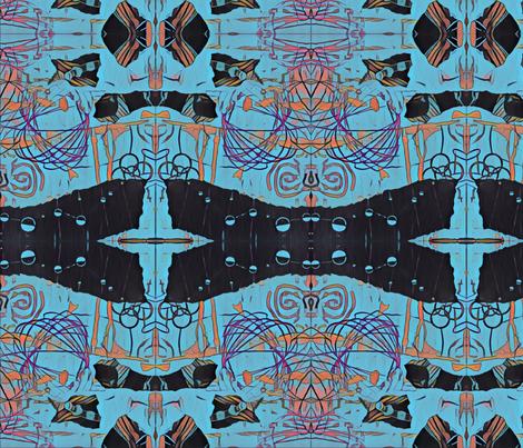 Tribal Blue fabric by art_studio_49 on Spoonflower - custom fabric