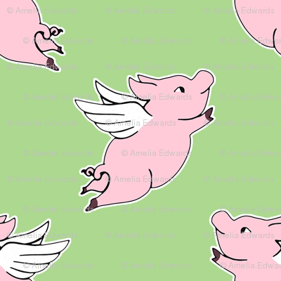 When Pigs Fly - Green