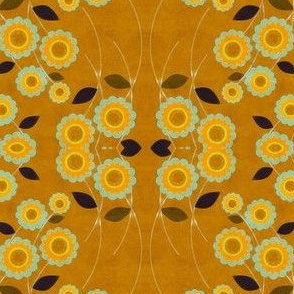 sunflower in golden dawn