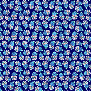 Floral Diamond Geometric Pattern