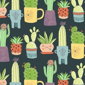 Southwest Potted Cactus by Angel Gerardo