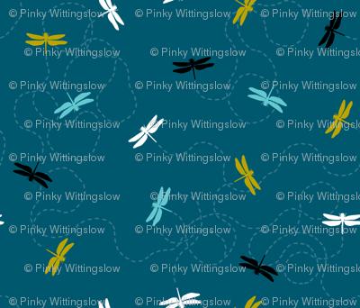 Dragonfly Backing - Dark Teal
