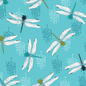 Dragonflies Small - Teal