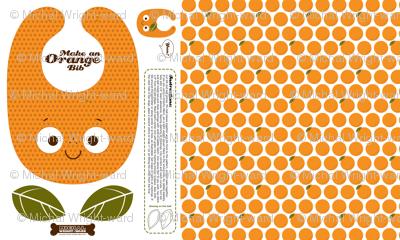 Make a Baby Toddler Bib - Orange