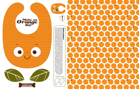 Make a Baby Toddler Bib - Orange fabric by michalwright-ward on Spoonflower - custom fabric