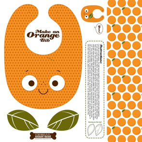 Make a Baby Toddler Bib - Orange