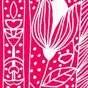 Swiss repeat in Fuchsia Pink