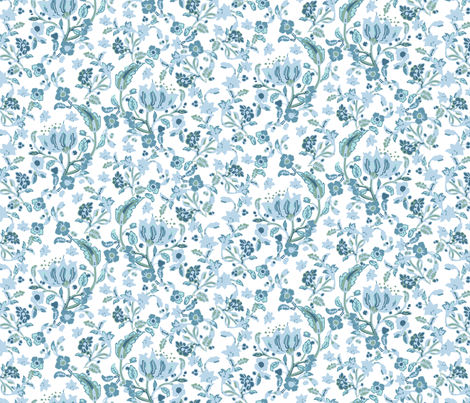 ARCHIBALD (blue) fabric by maringotte on Spoonflower - custom fabric